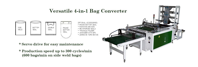 Versatile 4-in-1 Bag Converters